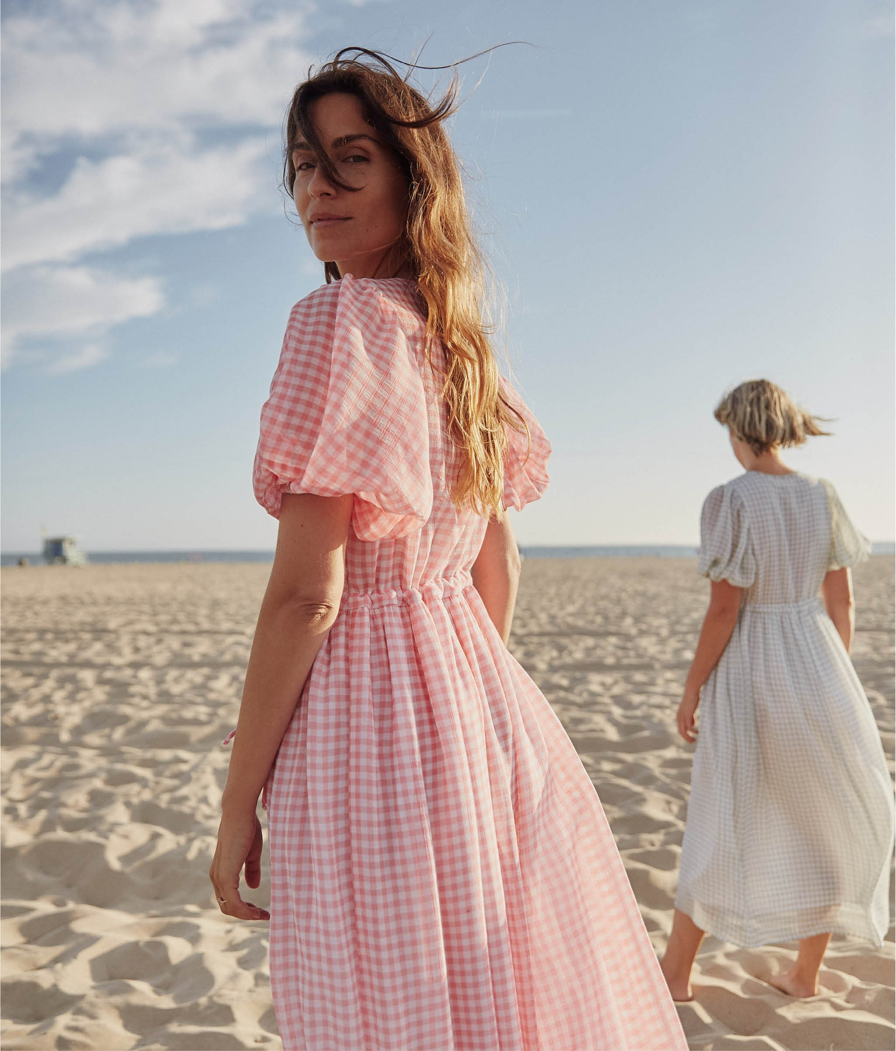 The Dahlia Dress | Blossom Gingham (Lined)