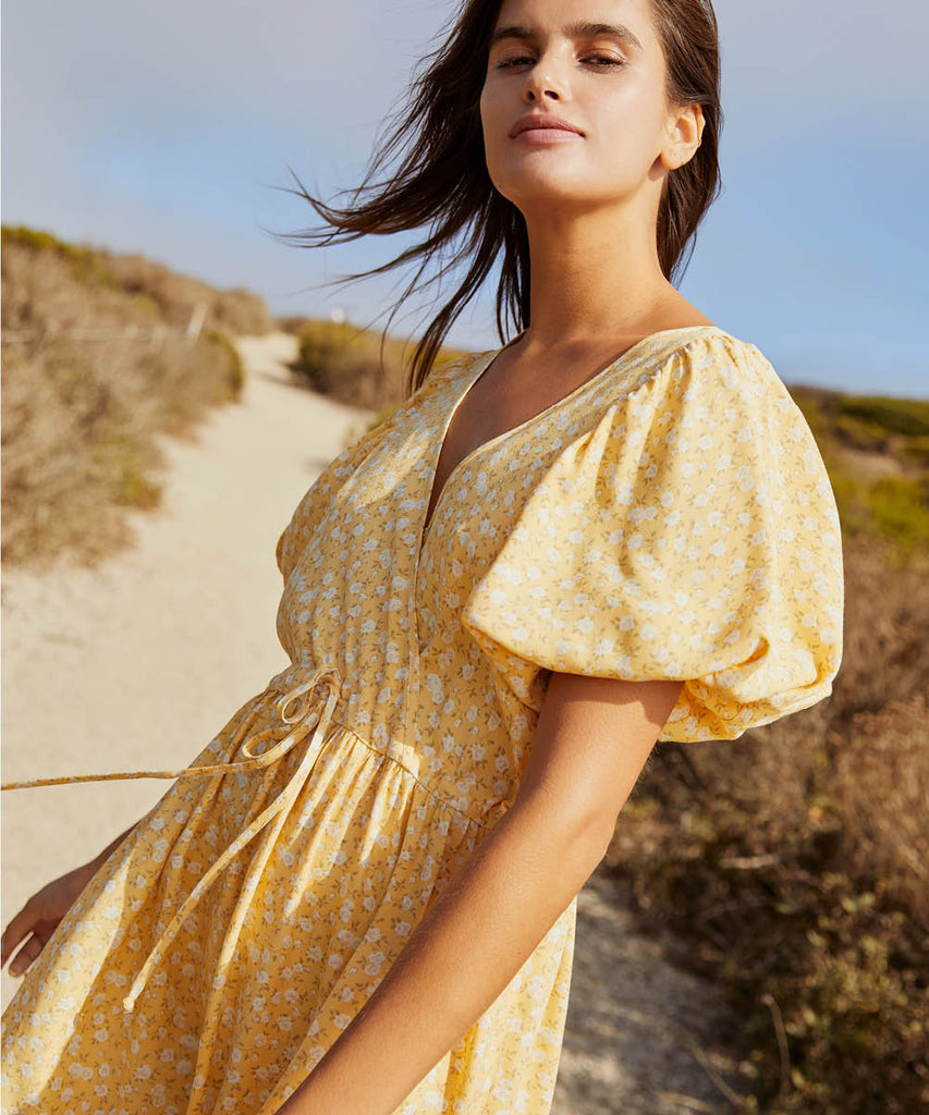 The Dahlia Dress | Butterscotch Floral