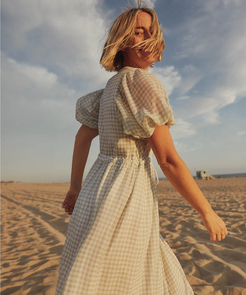 The Dahlia Dress | Mint Gingham (Lined) image 2