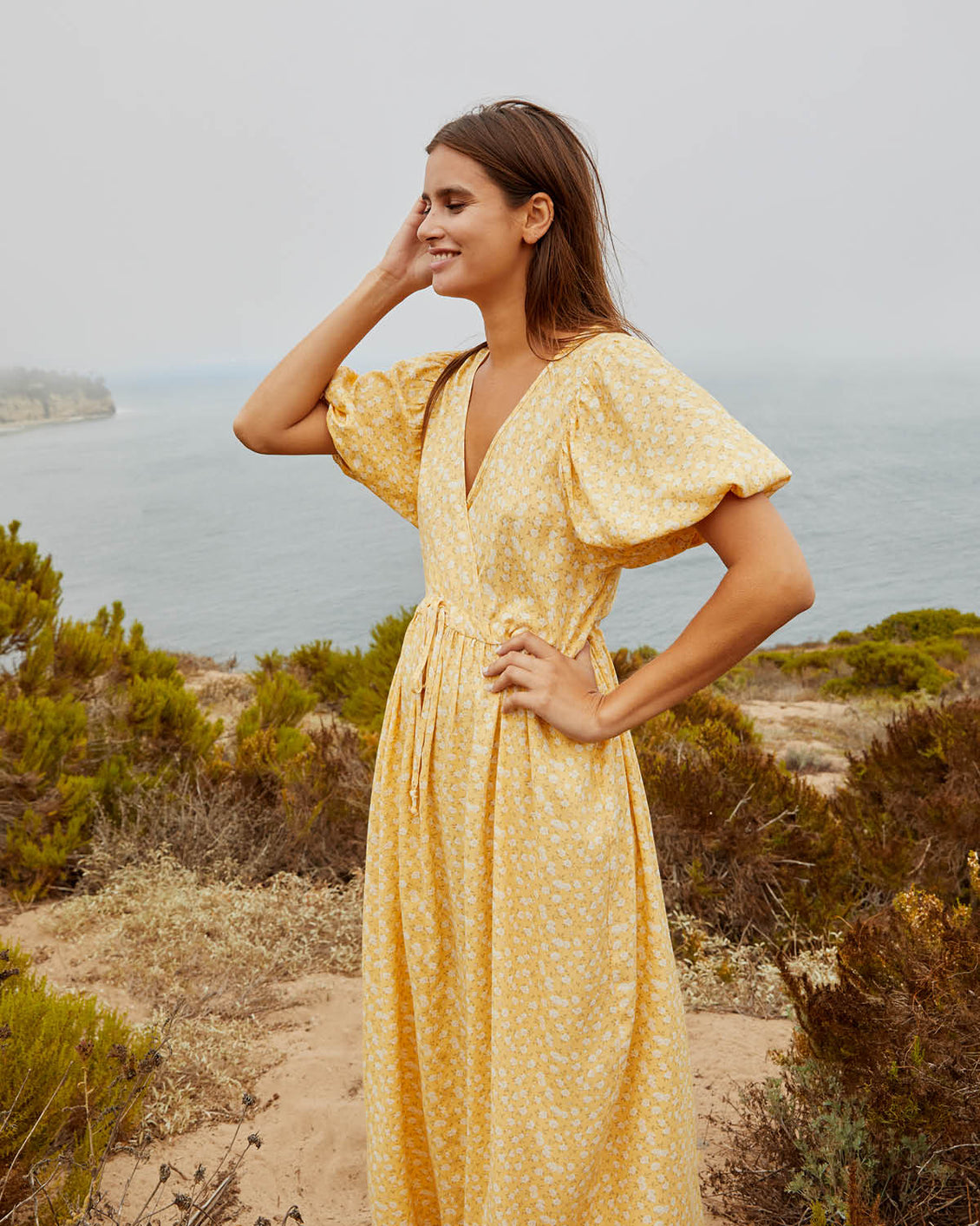 The Dahlia Dress Petites | Butterscotch Floral