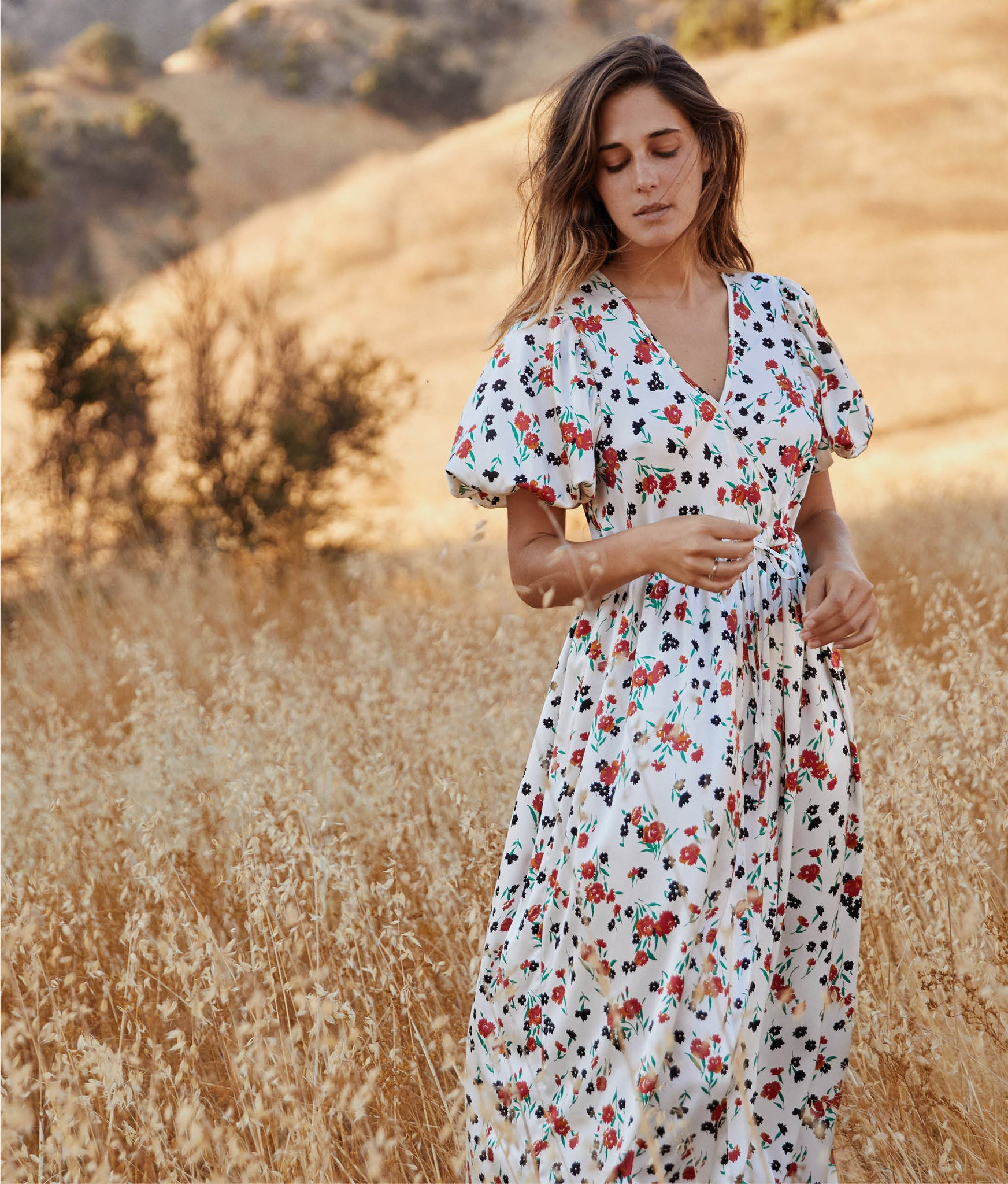 The Dahlia Dress | Painted Meadow Silk