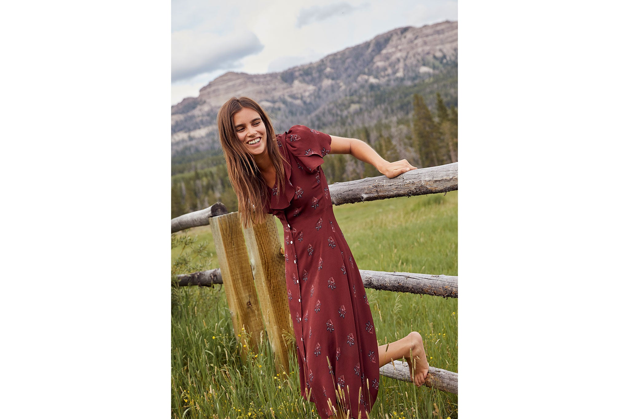 The Daisy Dress | Oxblood Leaf