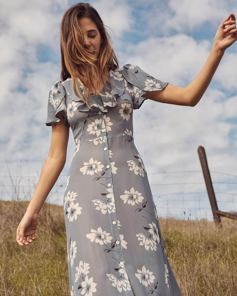The Daisy Dress | Floral Mist (Imperfect)
