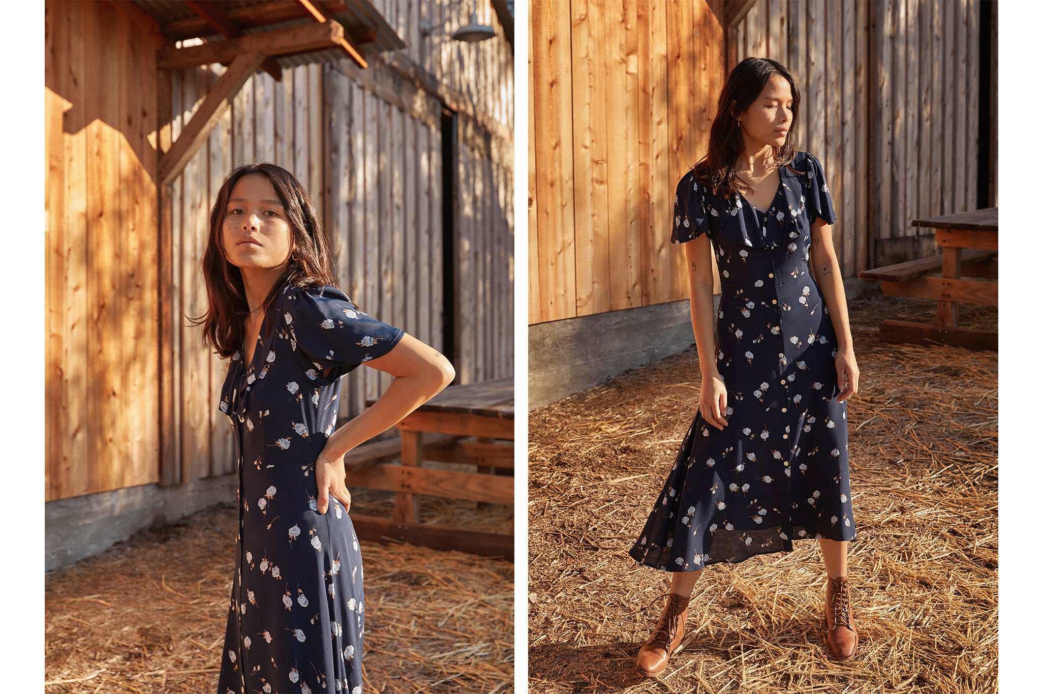 The Daisy Dress | Midnight Rose