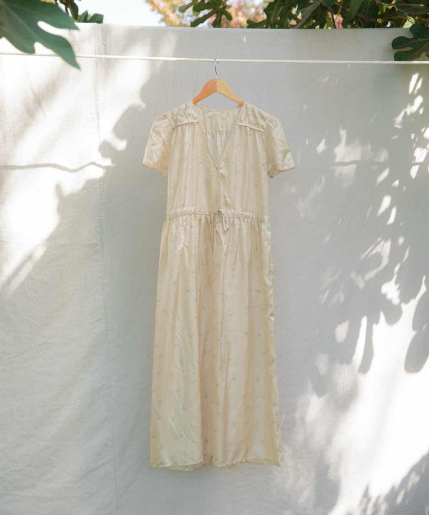 The Dawn Dress | Silver Dove Silk (4-of-a-Kind)