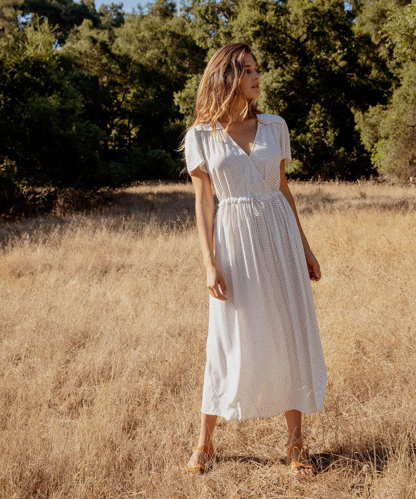 The Dawn Dress | Ivory Ditsy