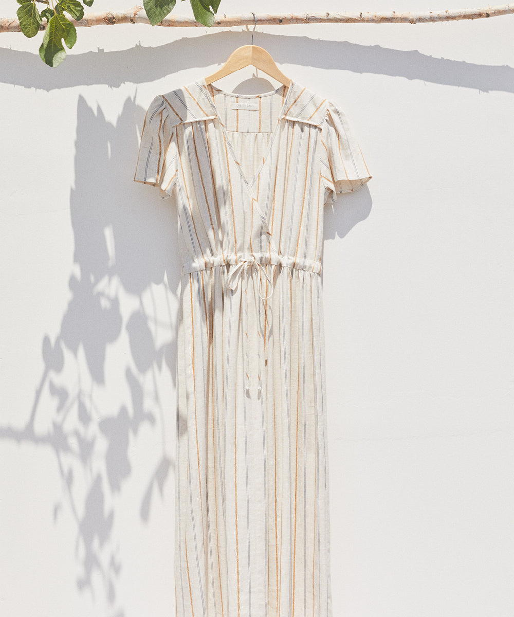 The Dawn Dress | Mustard Stripe