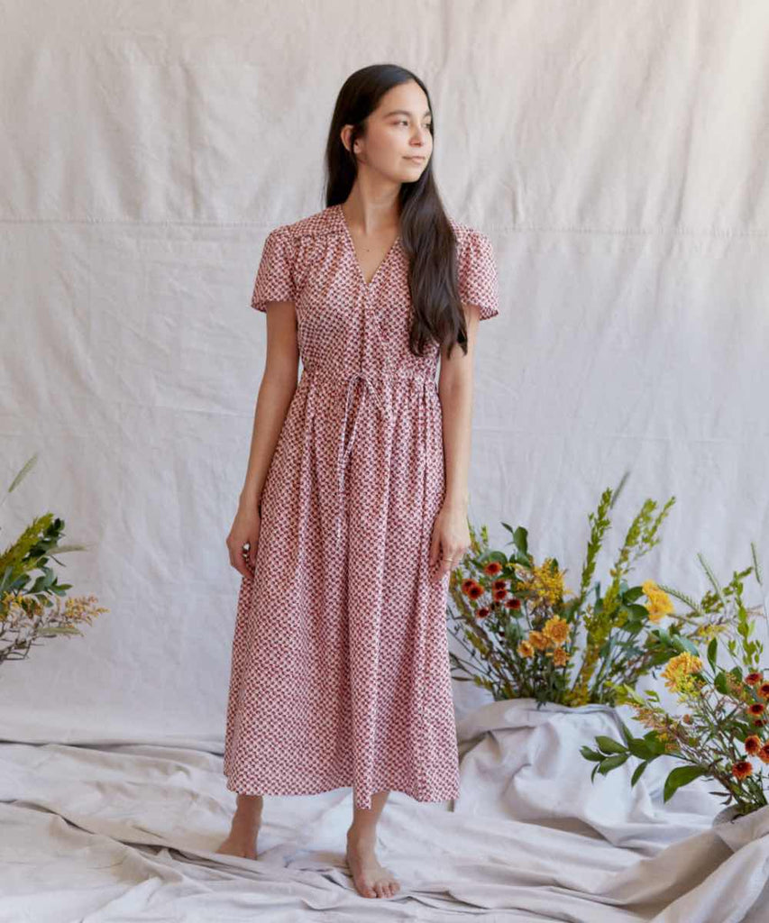 The Dawn Dress Petites | Thulian Anemone Field