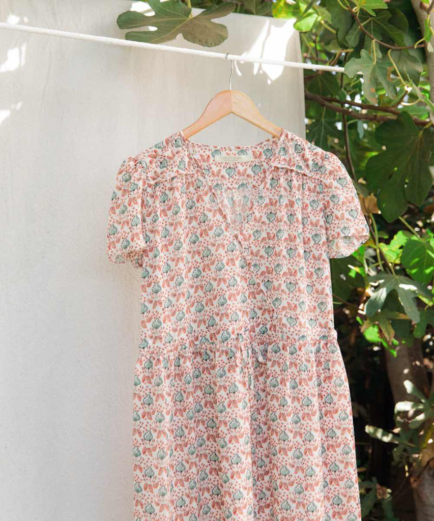 The Dawn Dress | Ginger Paisley Field Silk (4-of-a-Kind)