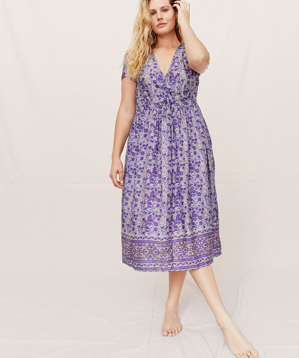 The Dawn Dress | Indian Floral (1-of-a-kind)