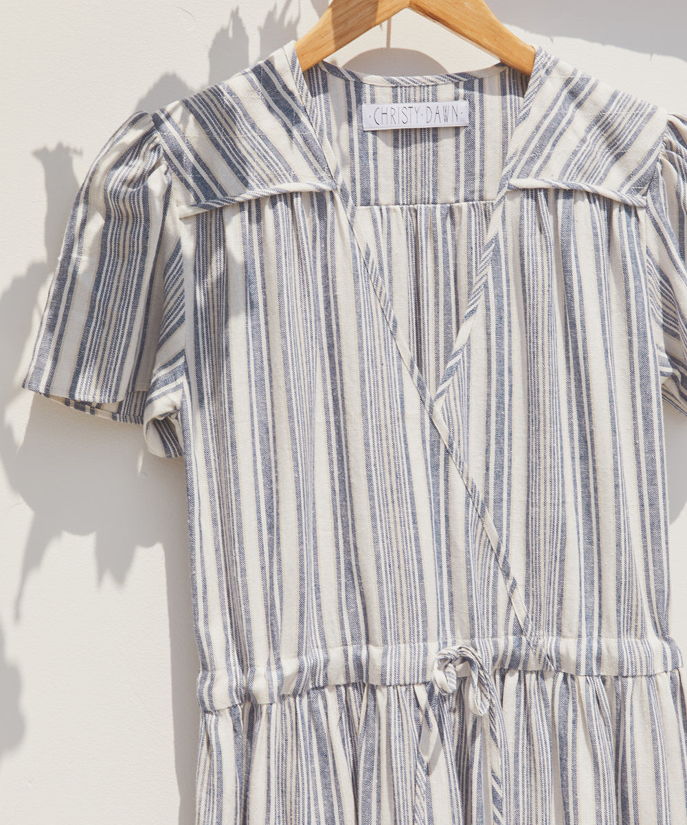 The Dawn Dress | Washed Lapis Stripe
