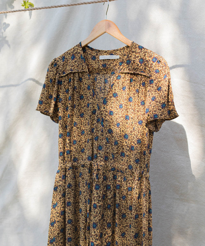 The Dawn Dress | Honey Floral (1-of-a-Kind)