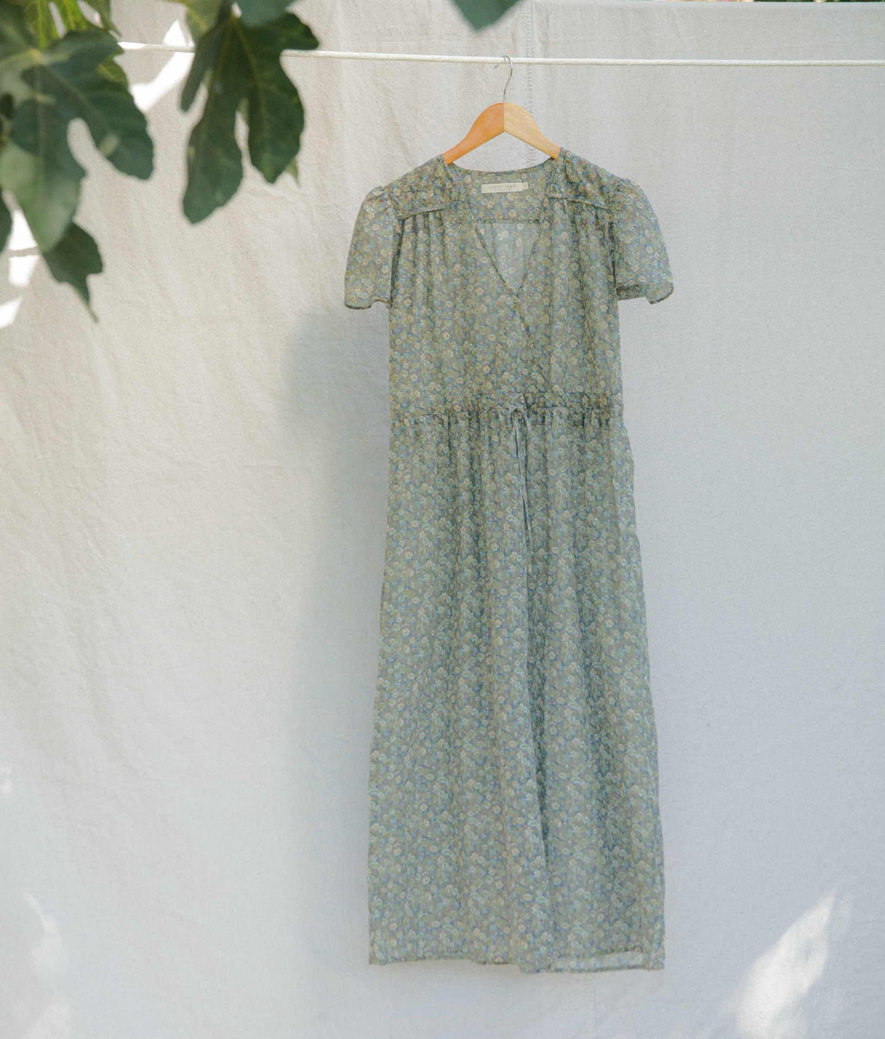 The Dawn Dress | Washed Moss Floral (5-of-a-Kind)