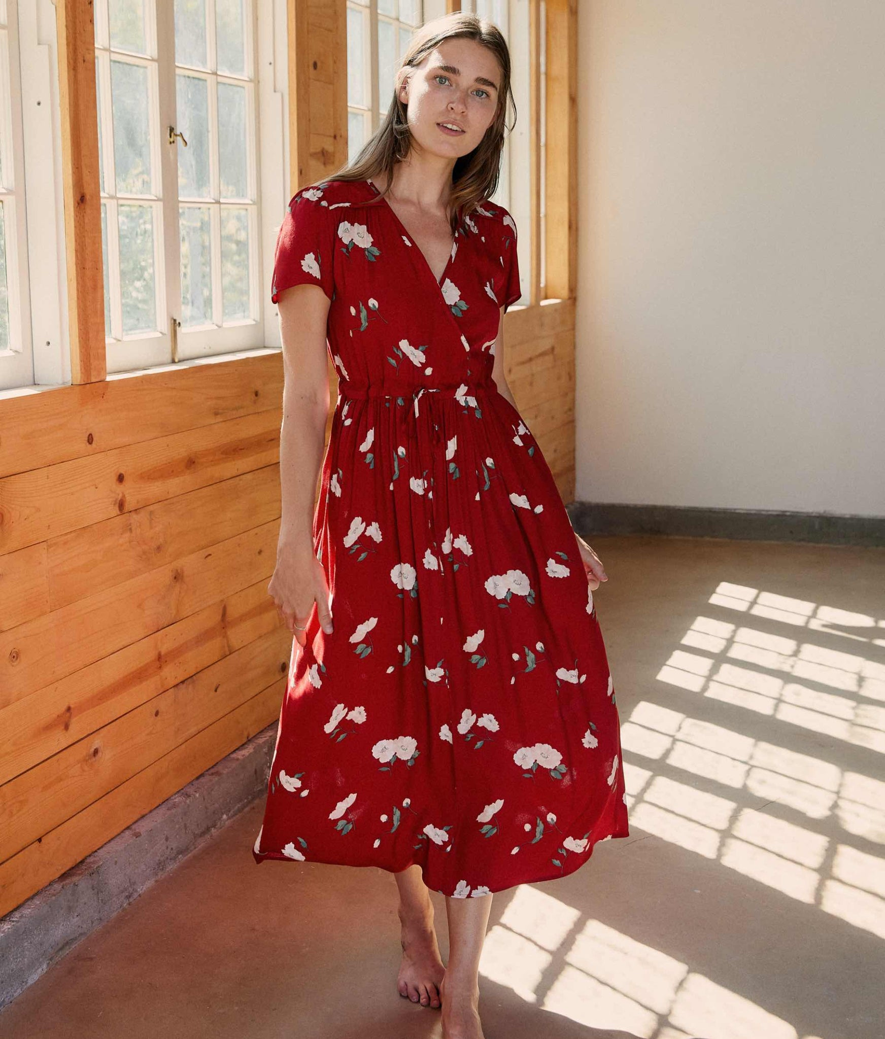 The Dawn Dress | Crimson Floral