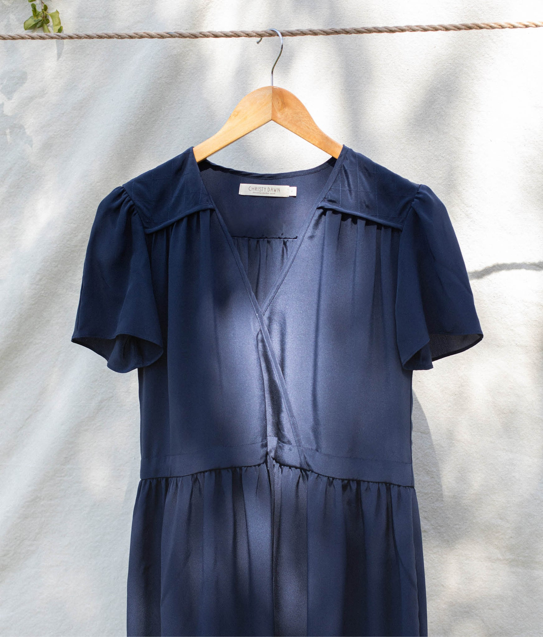 The Dawn Dress | Midnight Silk (1-of-a-Kind)