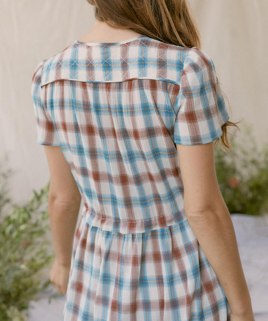 The Dawn Dress | Ocean Plaid