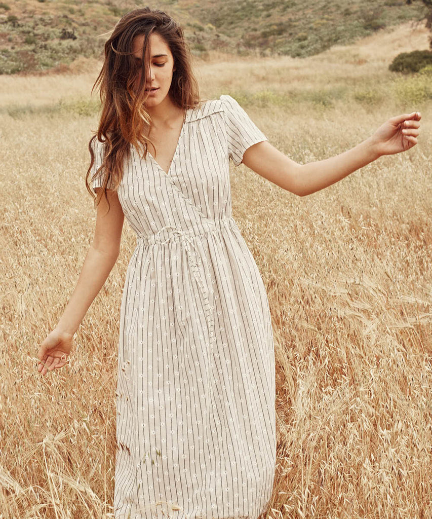 The Dawn Dress | Daisy Stripe (1-of-a-kind!)