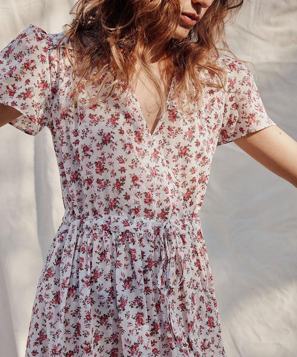 The Dawn Dress Petites | Rhubarb Spray