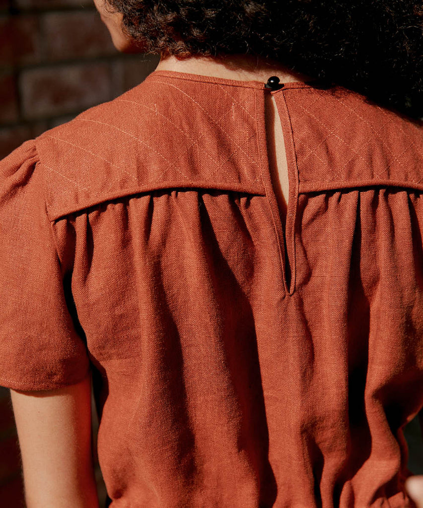 The Dawn Jumper |  Rust Linen