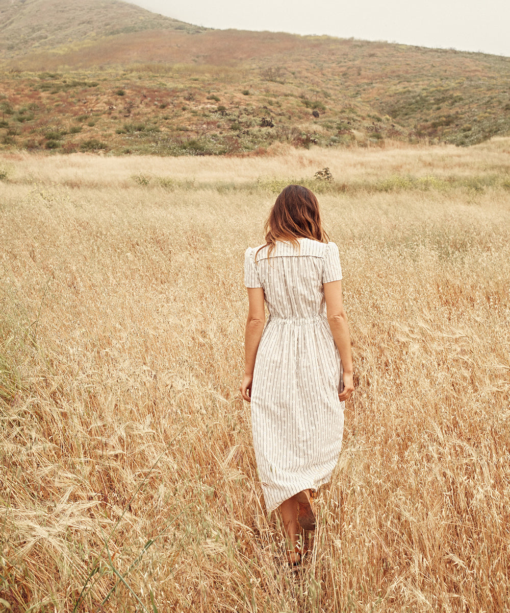The Dawn Dress | Daisy Stripe