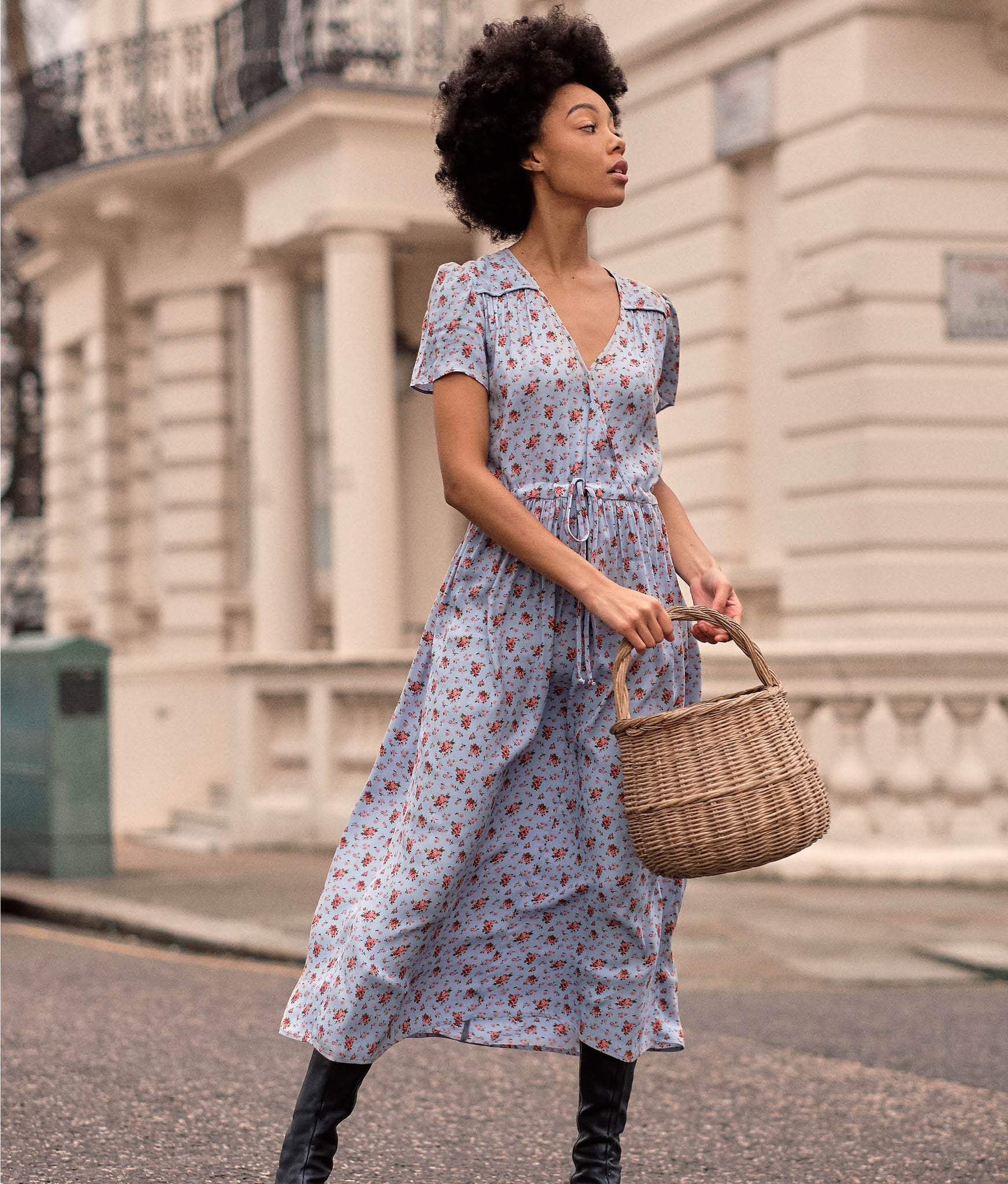 The Dawn Dress | Sky Floral