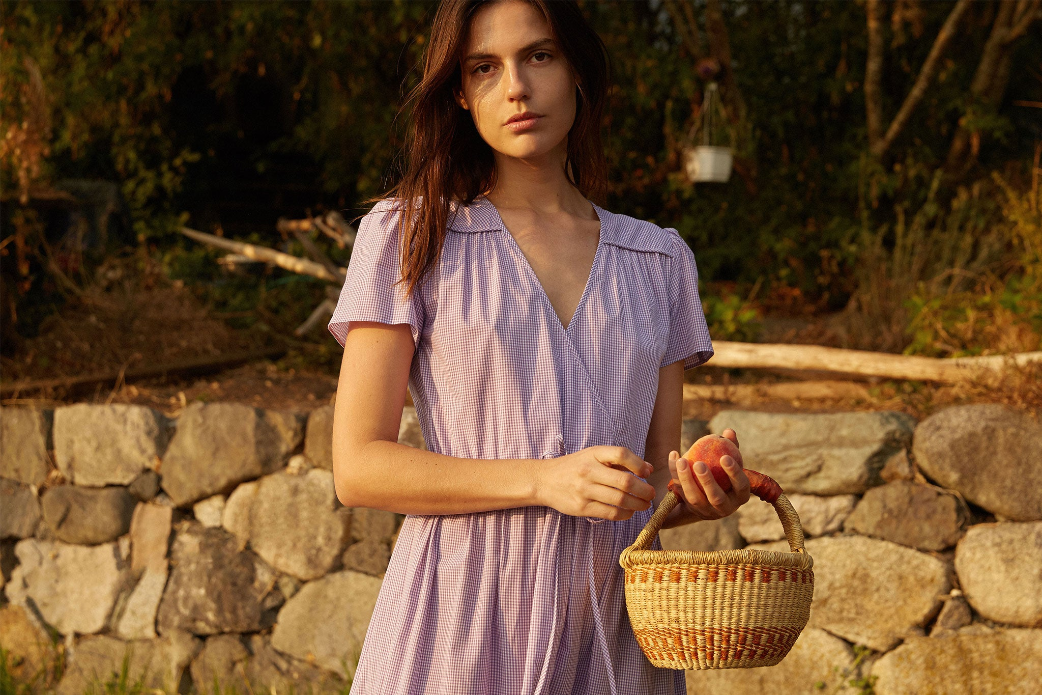 The Dawn Dress | Violet Gingham