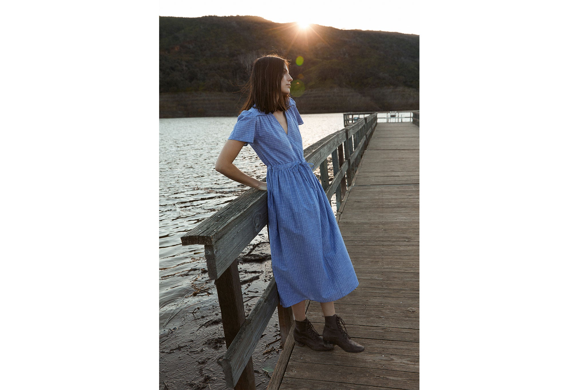 The Dawn Dress | Sky Stripe