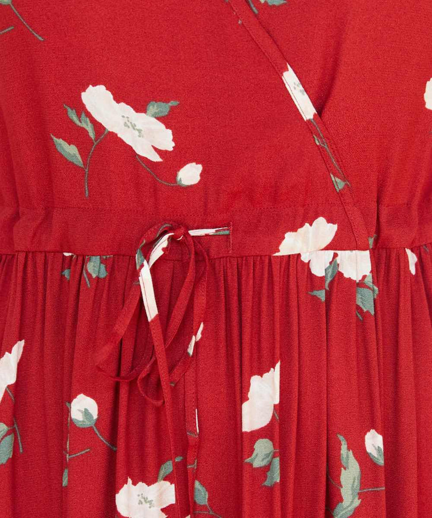 The Dawn Dress Petites | Crimson Floral