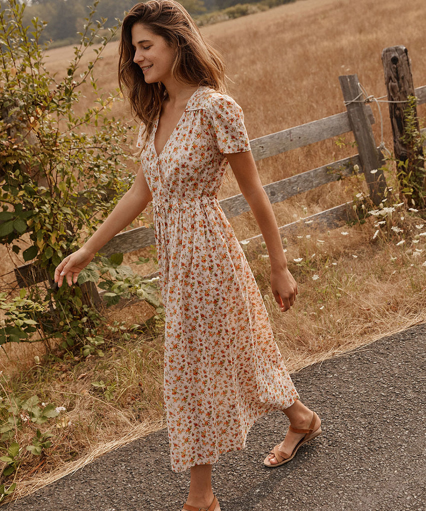 The Dawn Dress | Fall Calico image 14