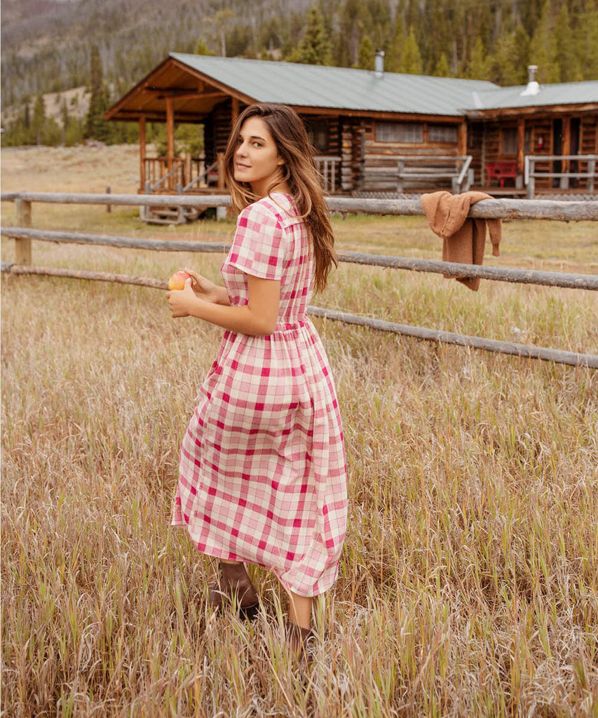 The Dawn Dress | Raspberry Plaid
