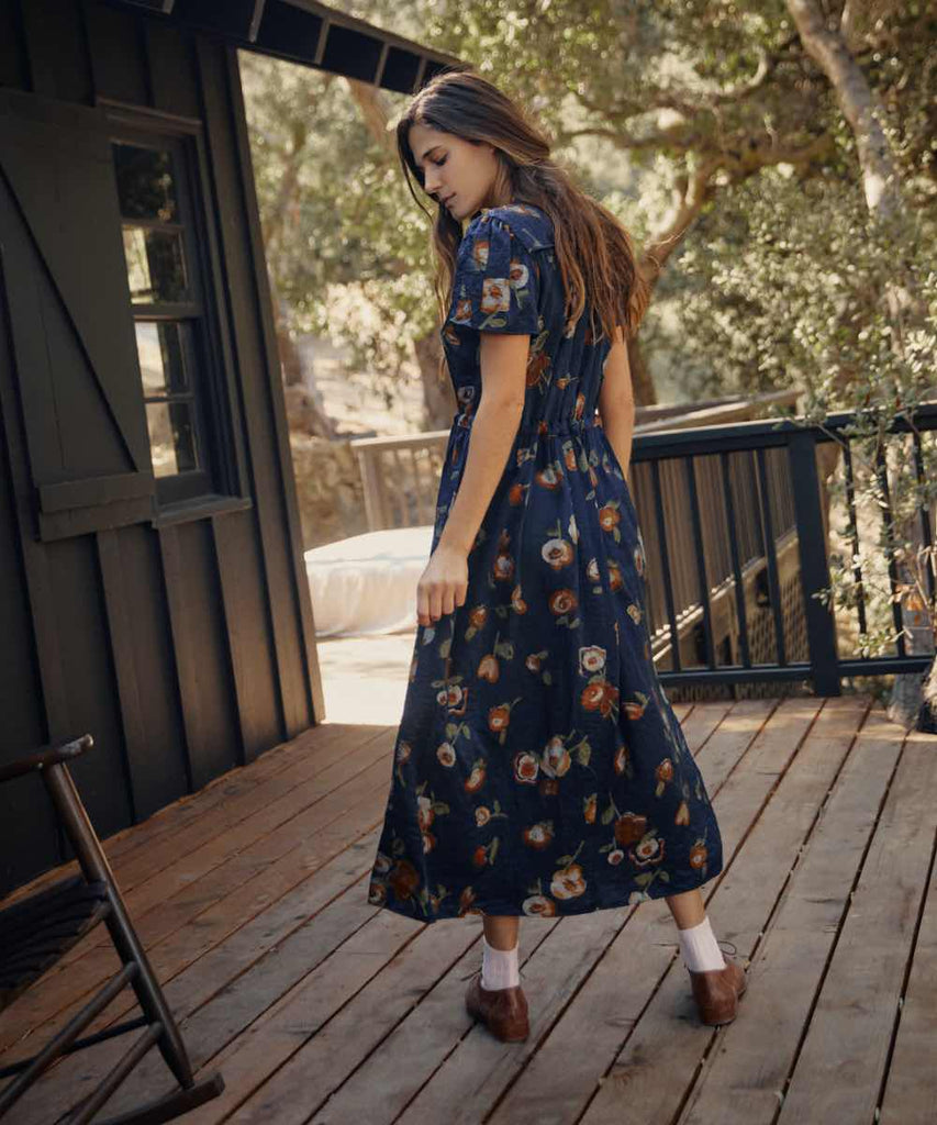 The Dawn Dress | Navy Blossom
