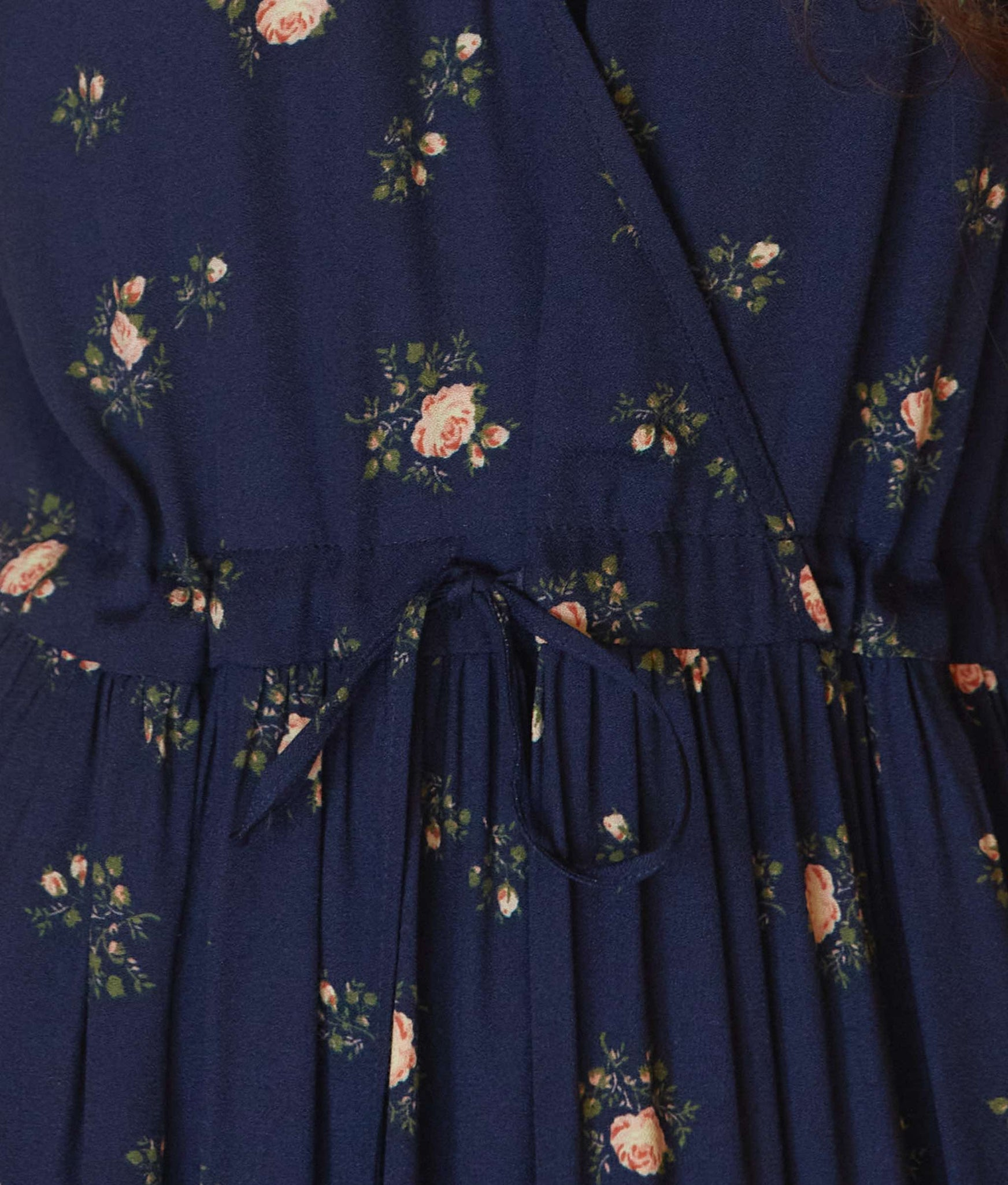 The Dawn Dress | Navy Rosebud