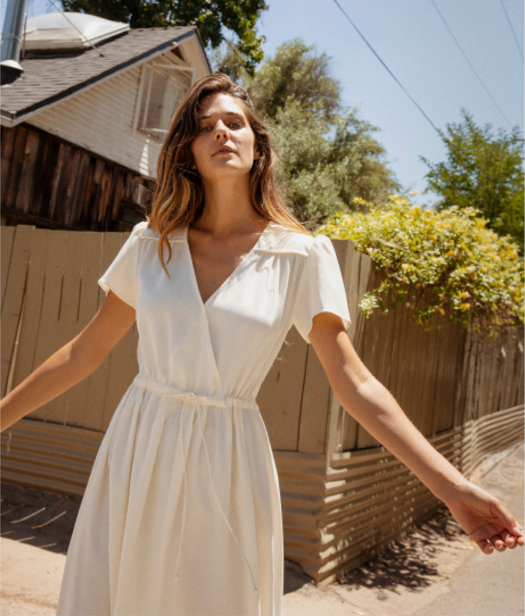 The Dawn Dress | Woven Ivory