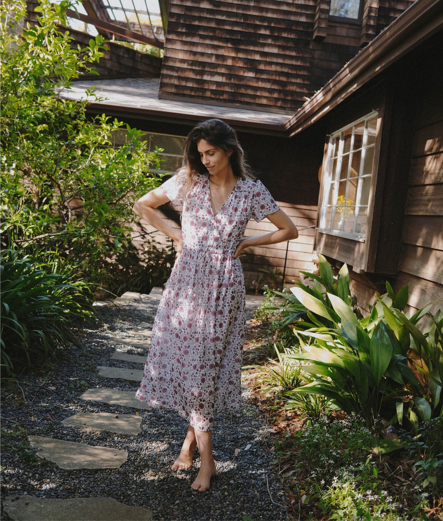 The Dawn Dress | Gooseberry Floral (Lined)