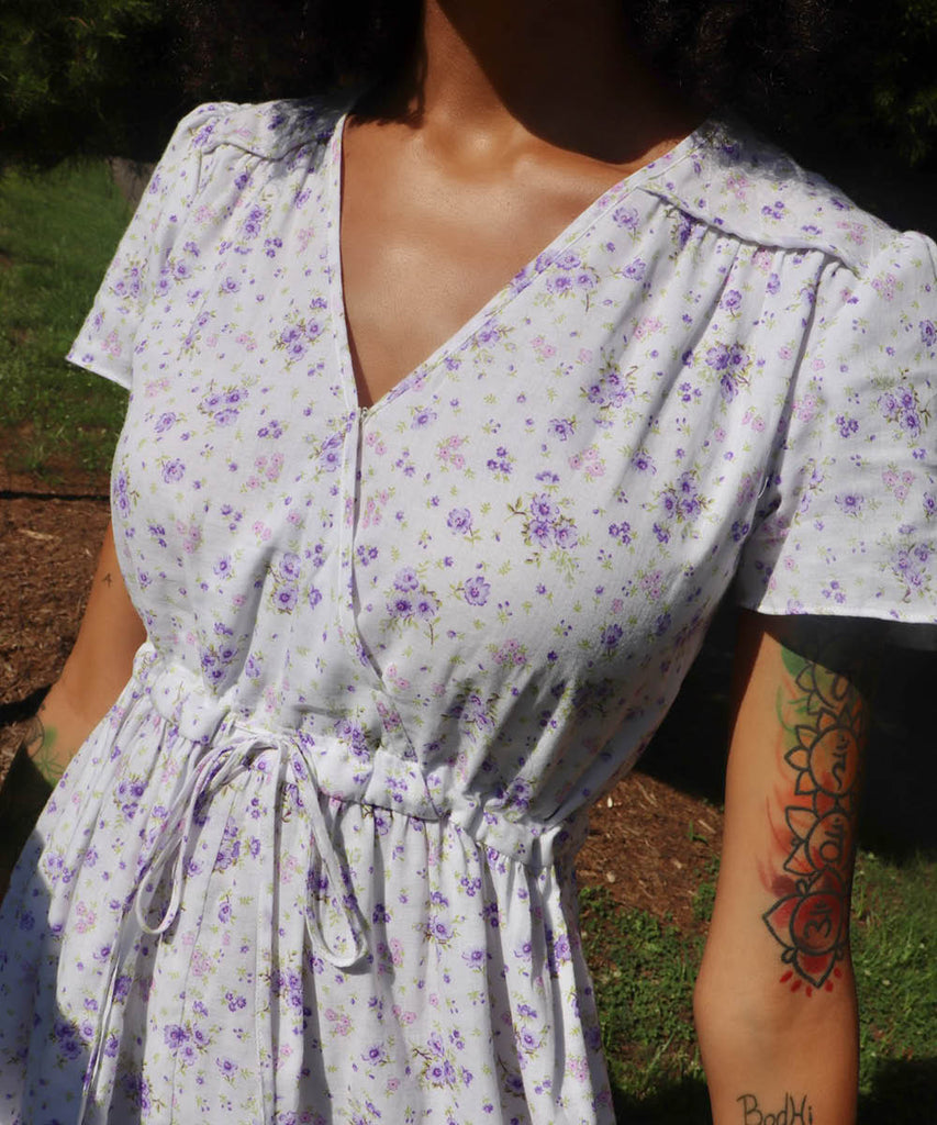 The Dawn Dress | Lilac Floral (Lined)