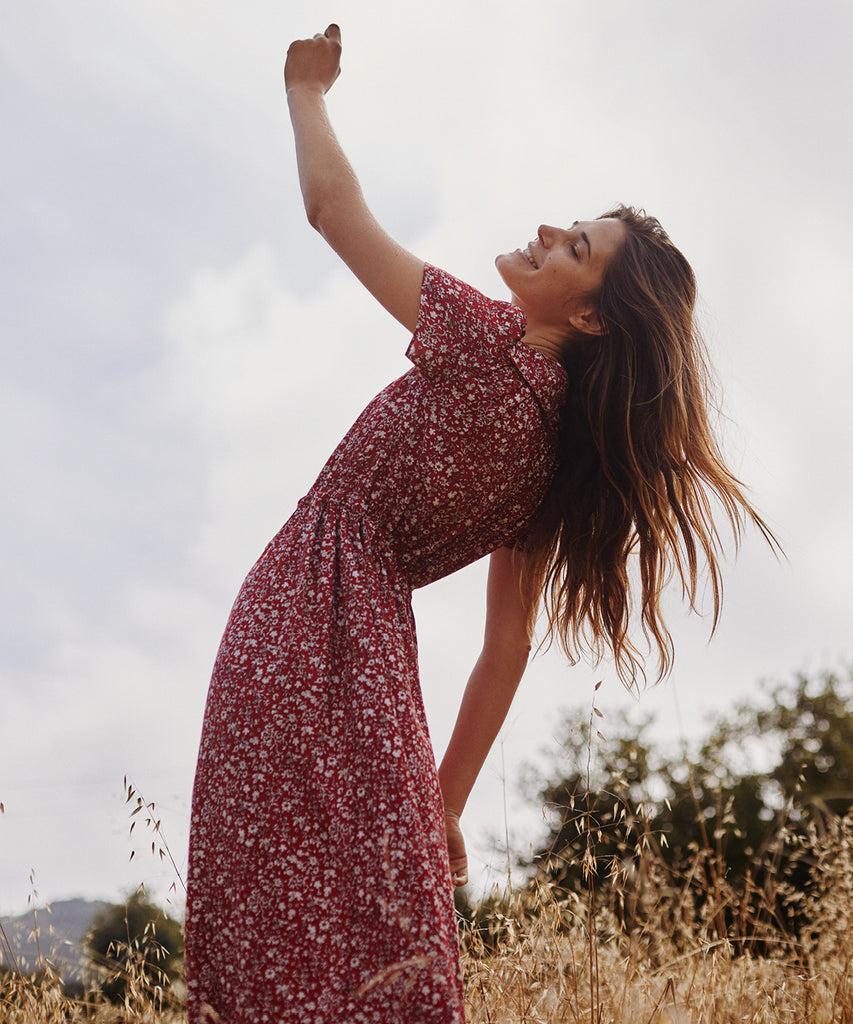 The Dawn Dress Petites | Crimson Garden