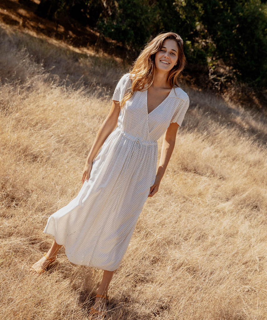 The Dawn Dress | Ivory Ditsy image 13