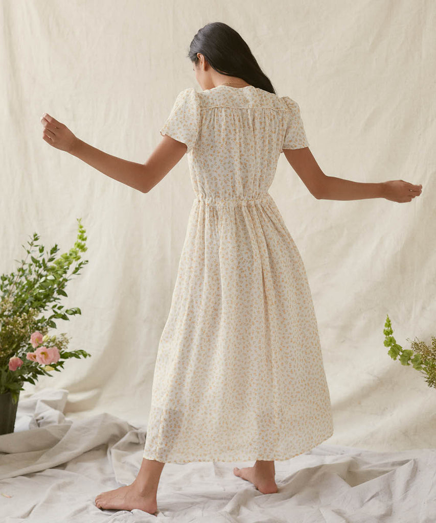 The Dawn Dress | Clementine Ditsy (Lined)