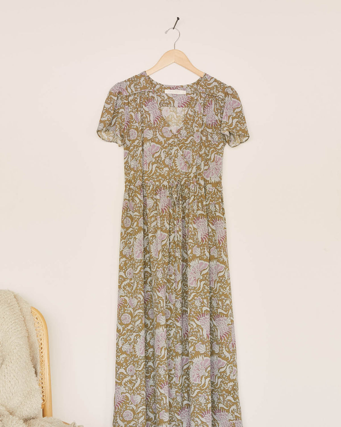 The Dawn Dress | Olive Petal Paisley