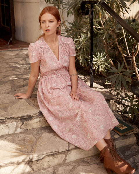The Dawn Dress | Blush Thistle Cotton