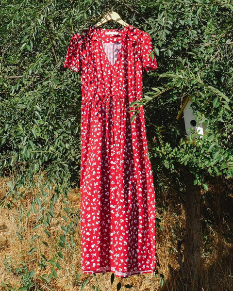 The Dawn Dress | Crimson Spray