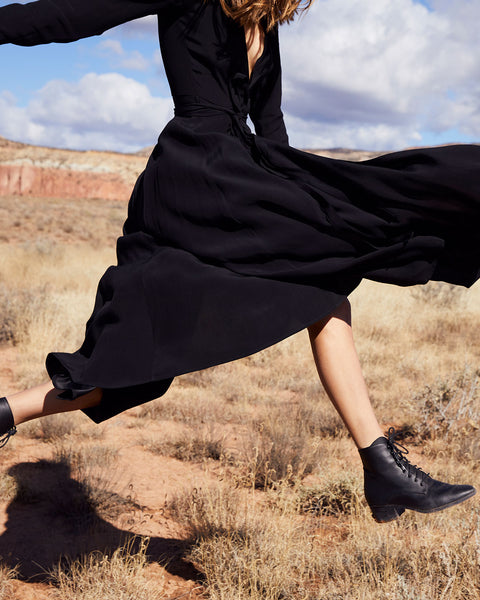 The Dawn Boot   Noir Leather