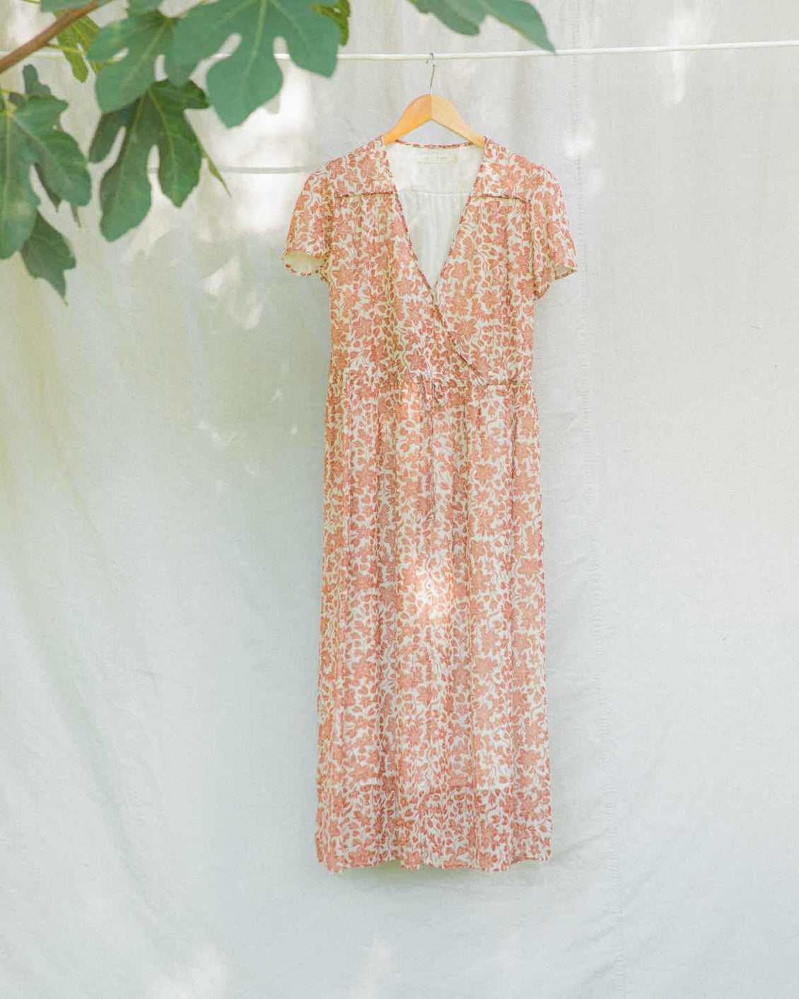 The Dawn Dress | Copper Floral Silk (Lined)