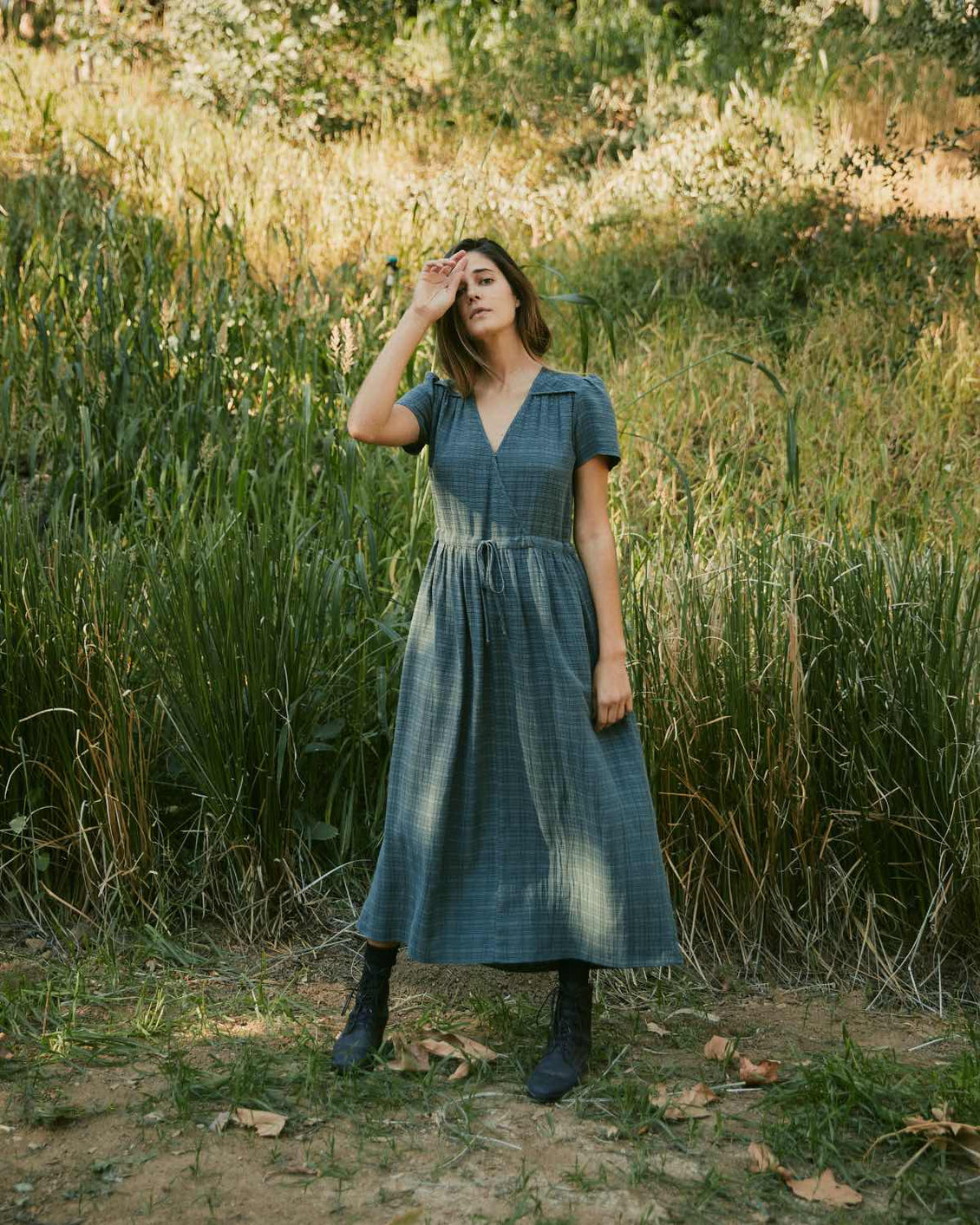 The Dawn Dress | Forest Plaid