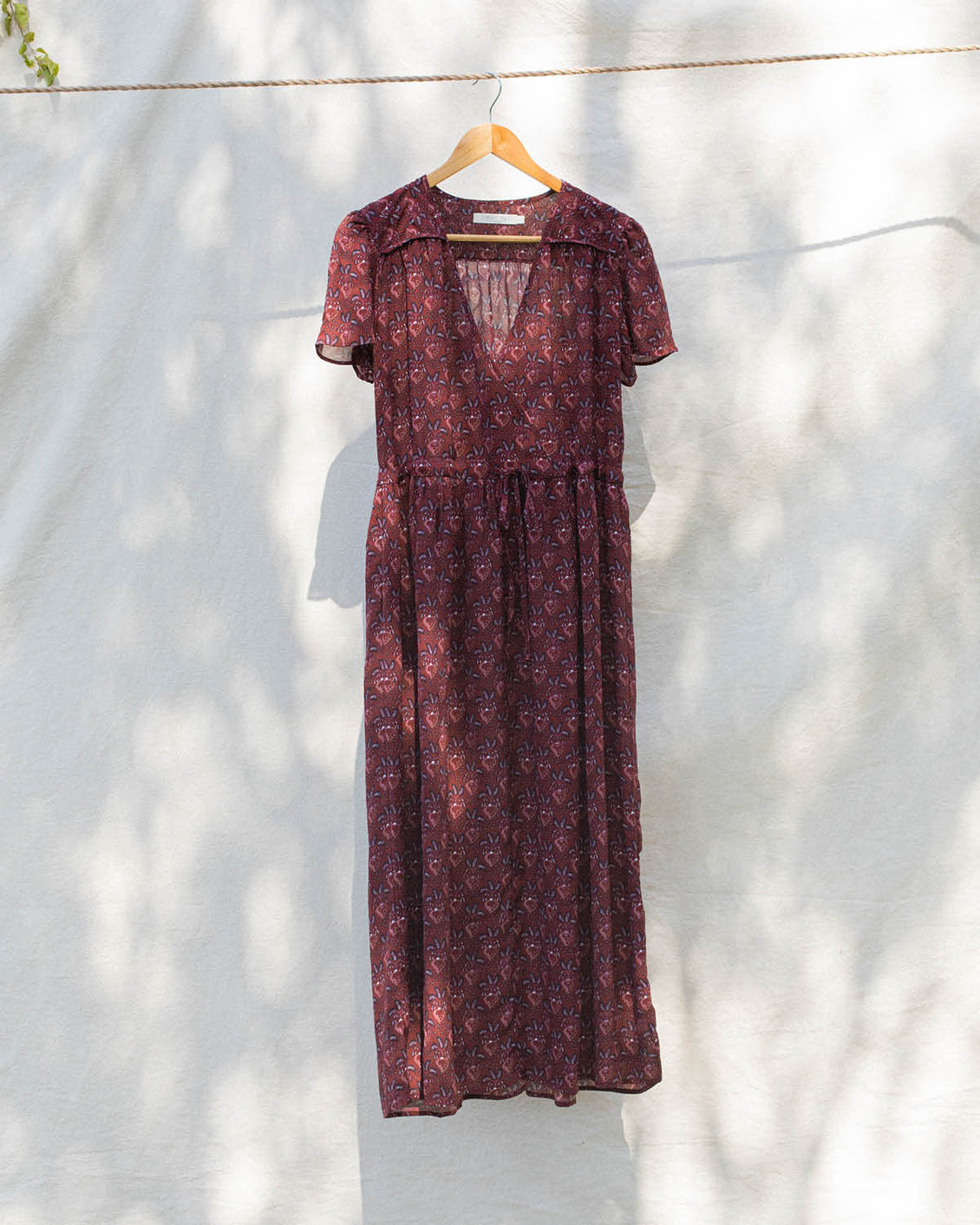The Dawn Dress | Maroon Fern (1-of-a-Kind)