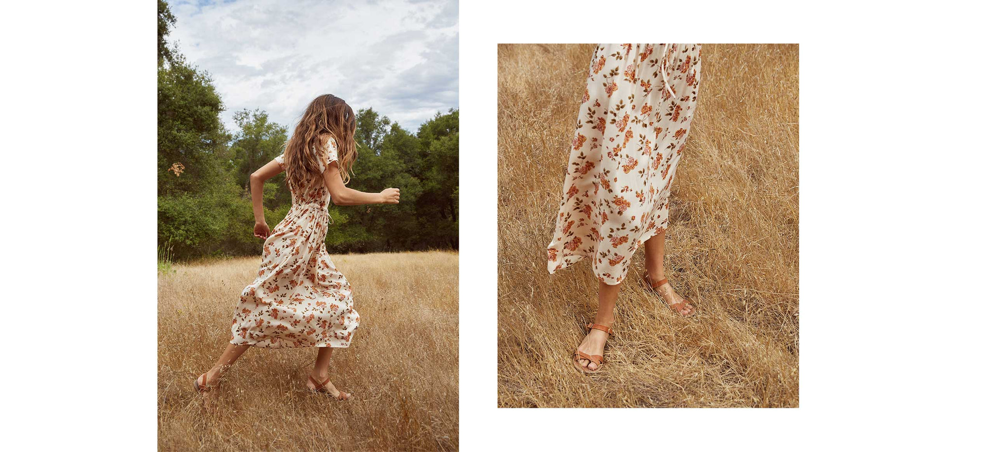 The Dawn Dress | Cream Floral