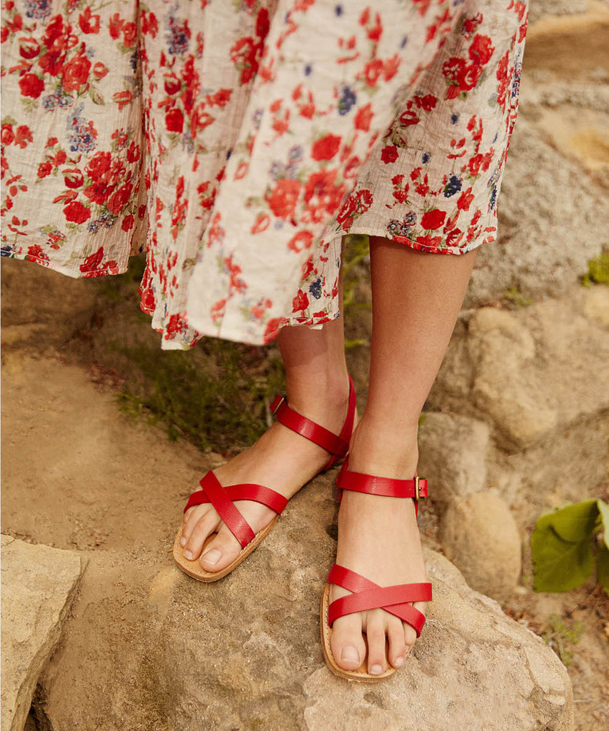 The Dawn Sandal | Carmine Leather image 3