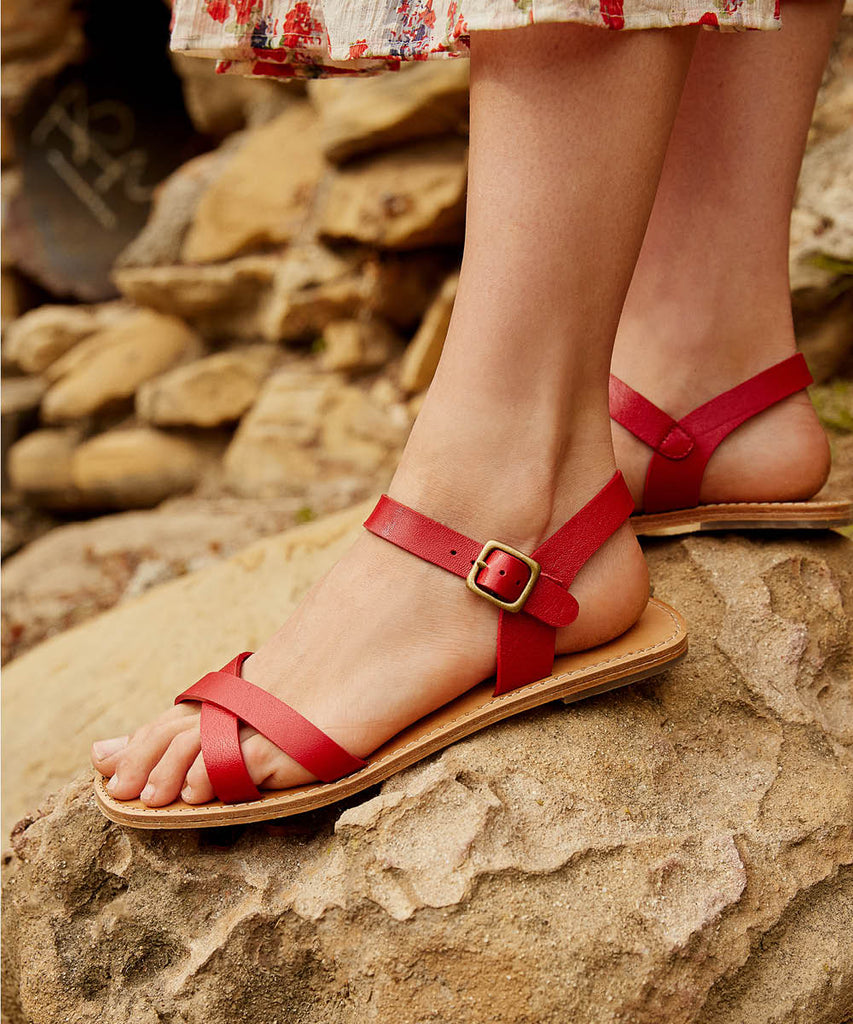The Dawn Sandal | Carmine Leather image 5