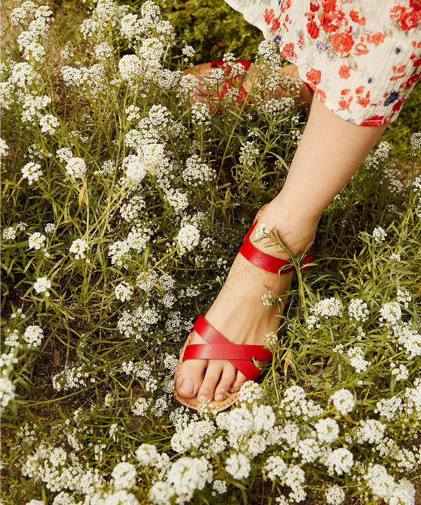 The Dawn Sandal | Carmine Leather image 7