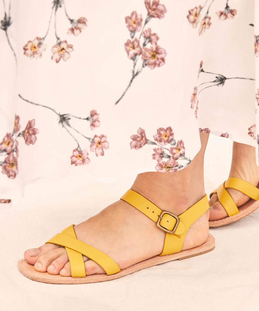 The Dawn Sandal | Chamomile Leather